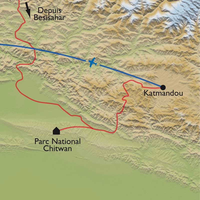 Carte Extension à Chitwan