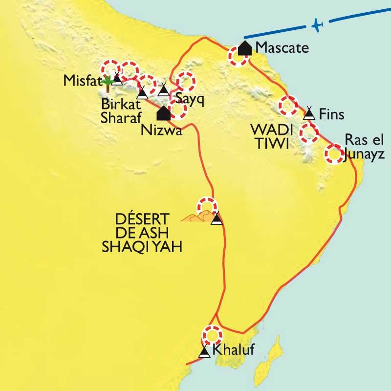 Itinéraire Montagnes, dunes et océan.