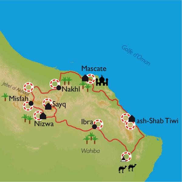 Carte Oman Tourisme.Le Sultanat D Oman Entre Deserts Et Wadis