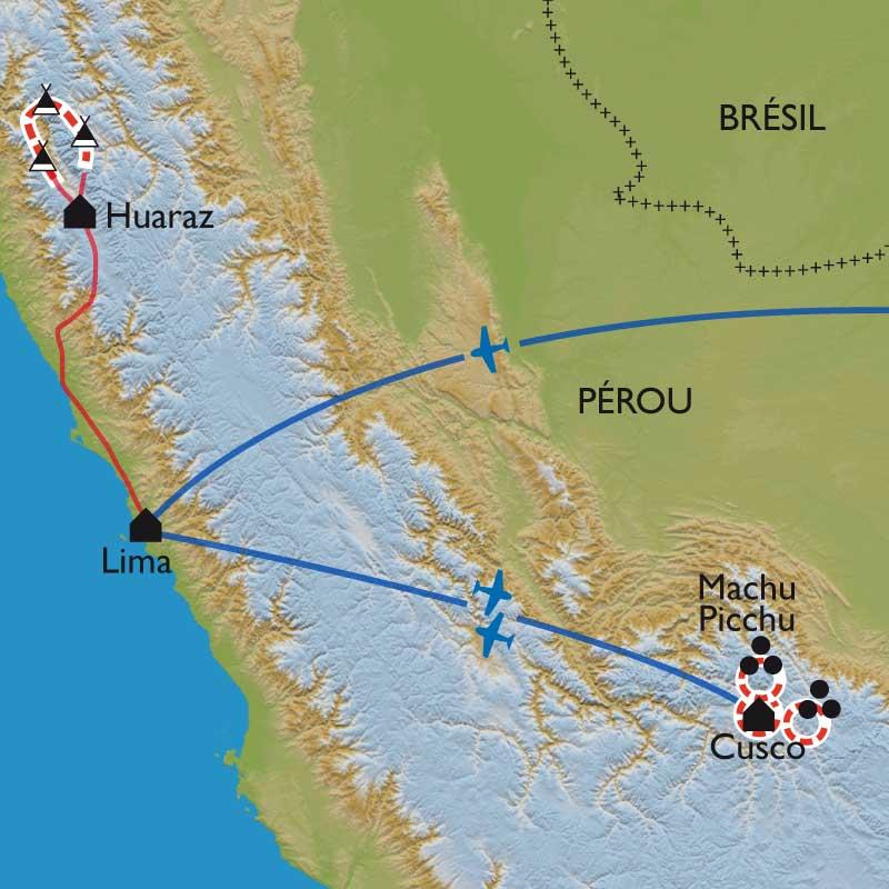 Itinéraire Du Machu Picchu à la Cordillère Blanche