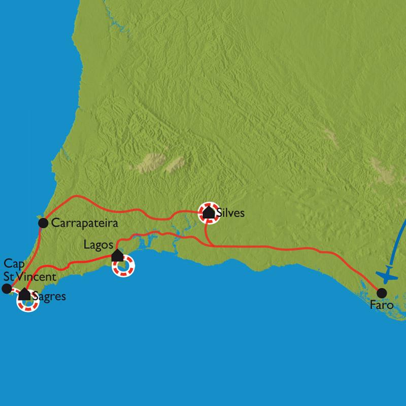 Itinéraire Criques sauvages, monts et villages blancs d'Algarve