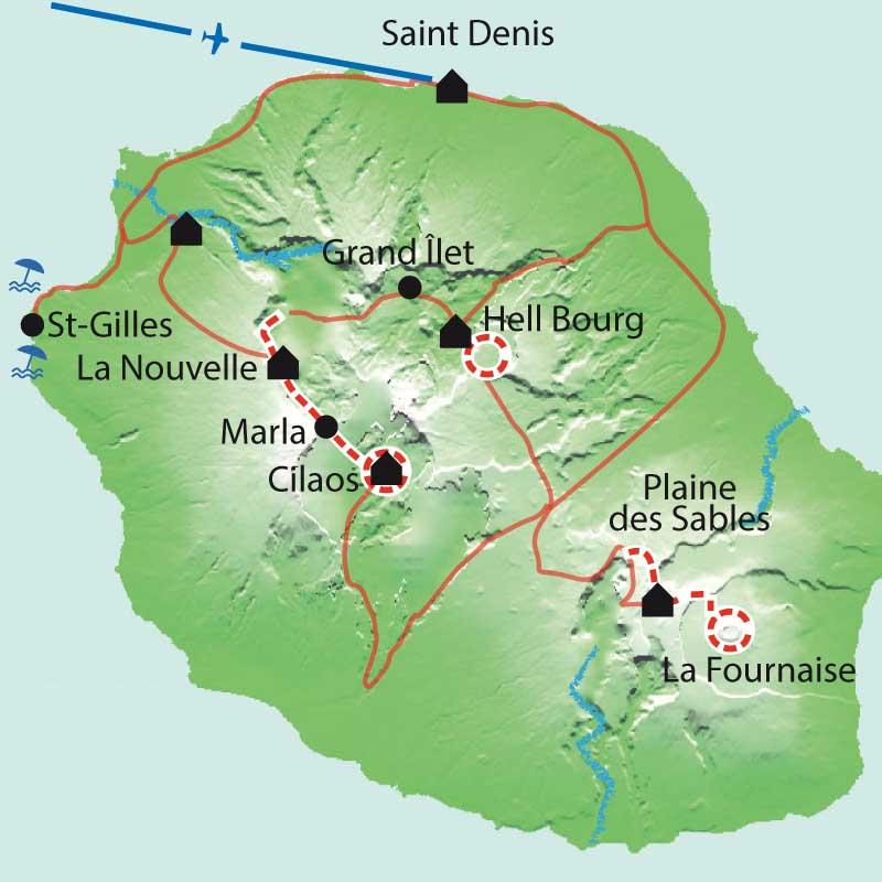 Itinéraire Volcan et lagon