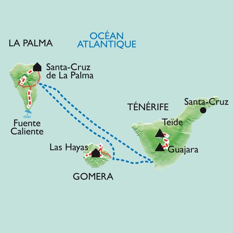 Itinéraire Tenerife - La Gomera - La Palma