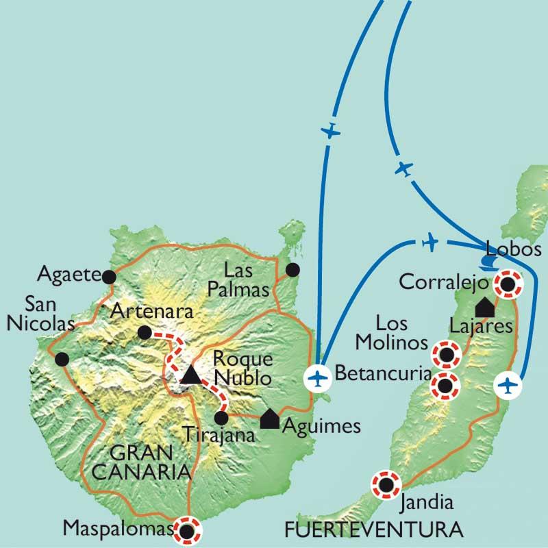 Randonnée Canaries - De Gran Canaria à Fuerteventura