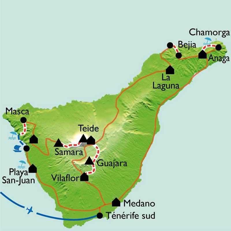 Itinéraire Trek sur Tenerife
