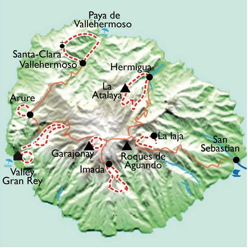 Itinéraire Gomera, la isla ecologica