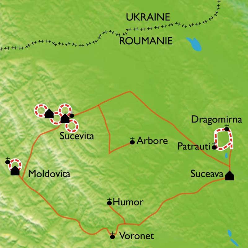 Itinéraire Monastères et villages de Bucovine
