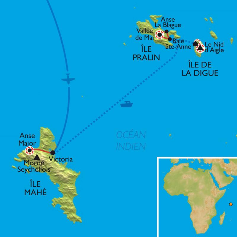 Itinéraire Balades Seychelloises
