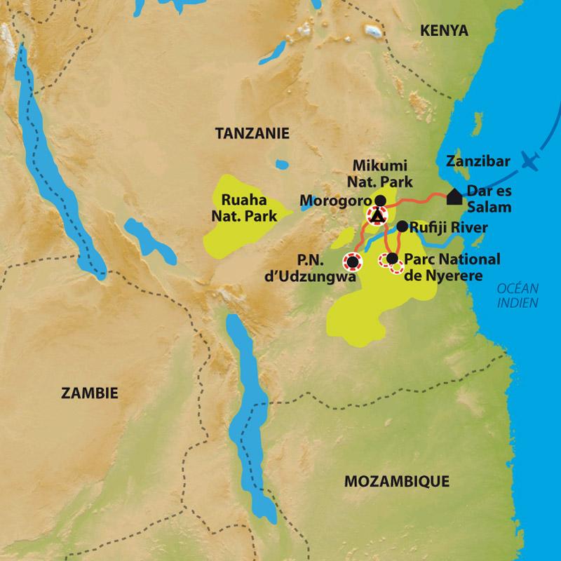 Itinéraire Les réserves du sud