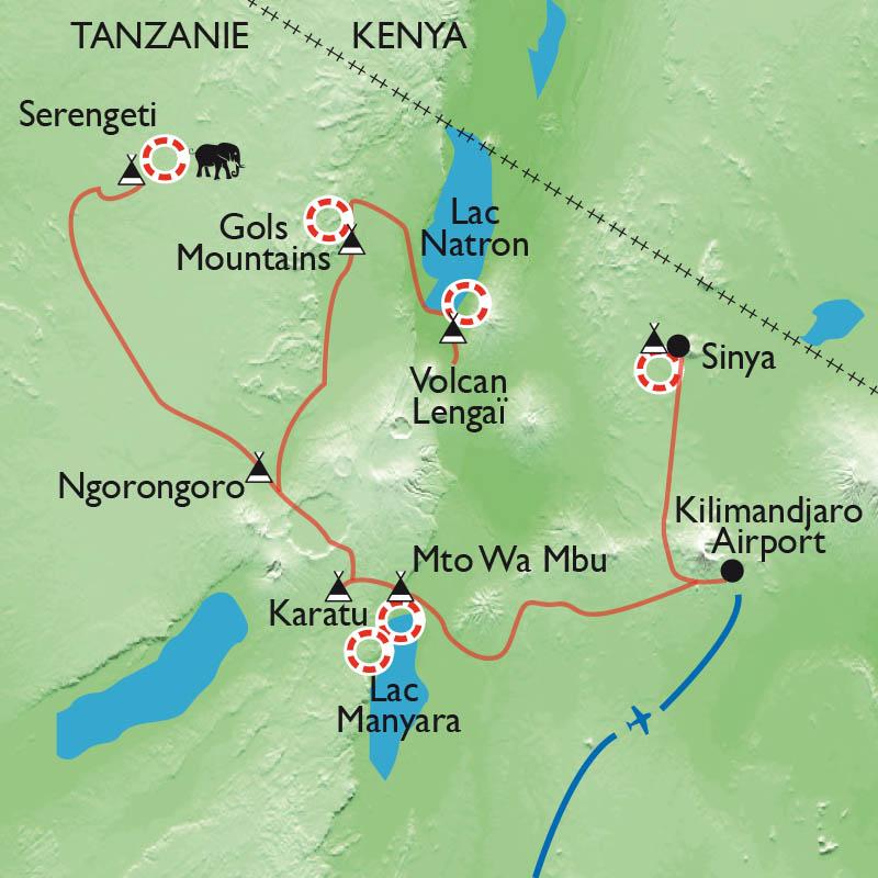 Itinéraire Terres masaï, rando, rencontres et safari