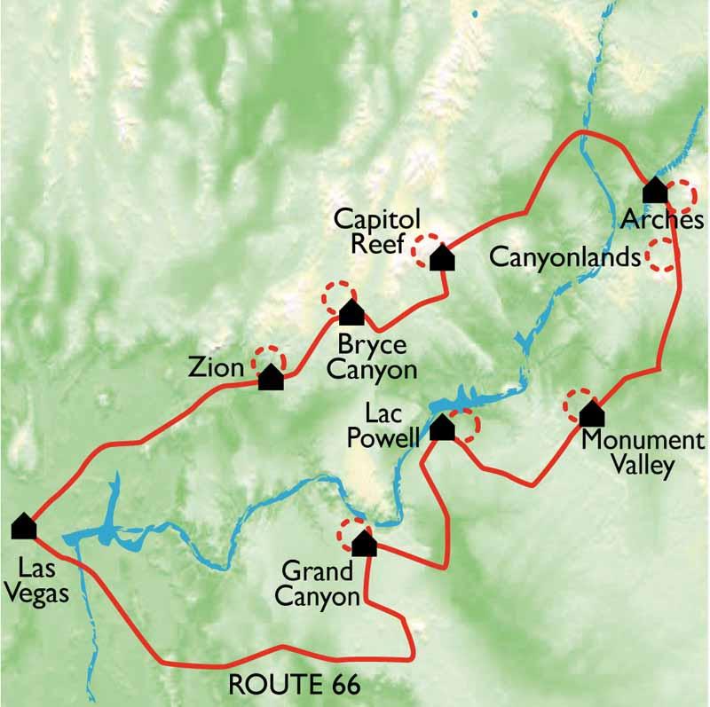 Randonnee Grand Canyon Et Monument Valley