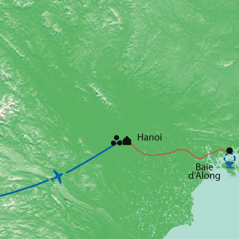 Carte Extension à la baie d'Halong
