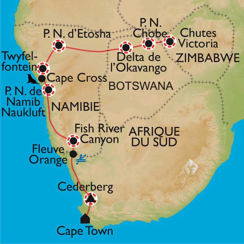 Exceptionnel Randonnée Afrique Australe - Afrique du Sud, Namibie, Botswana et  QO22